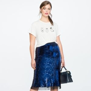 NWOT Eloquii Sequin Skirt